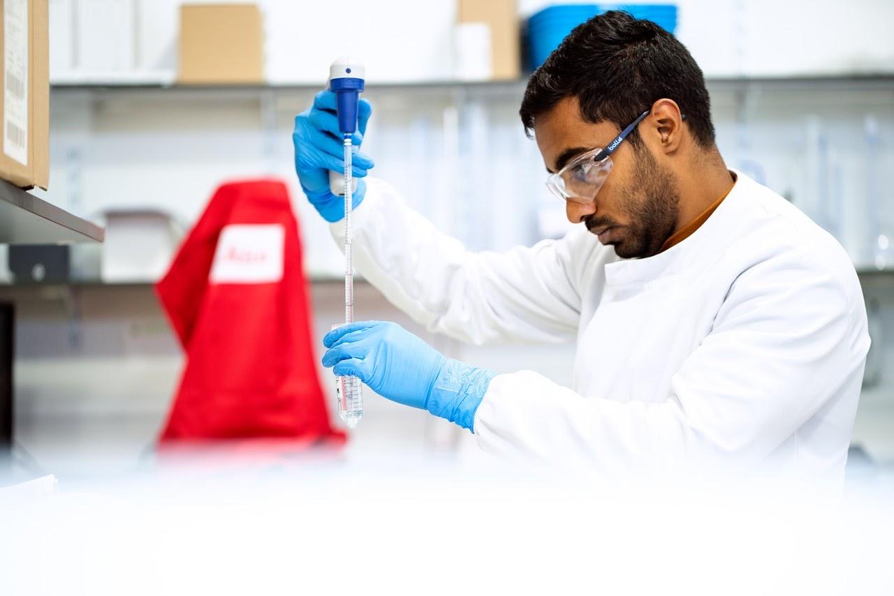 man working in laboratory