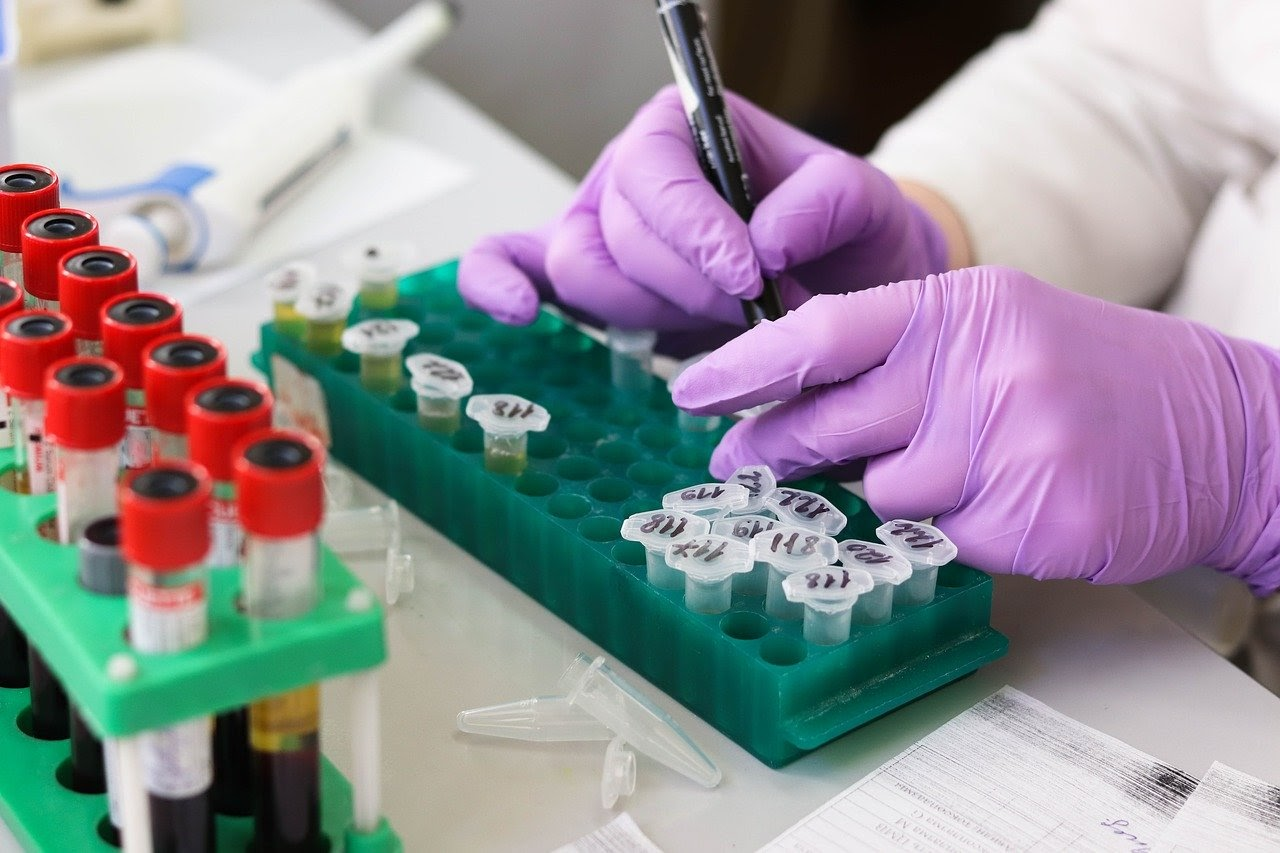 person working in laboratory