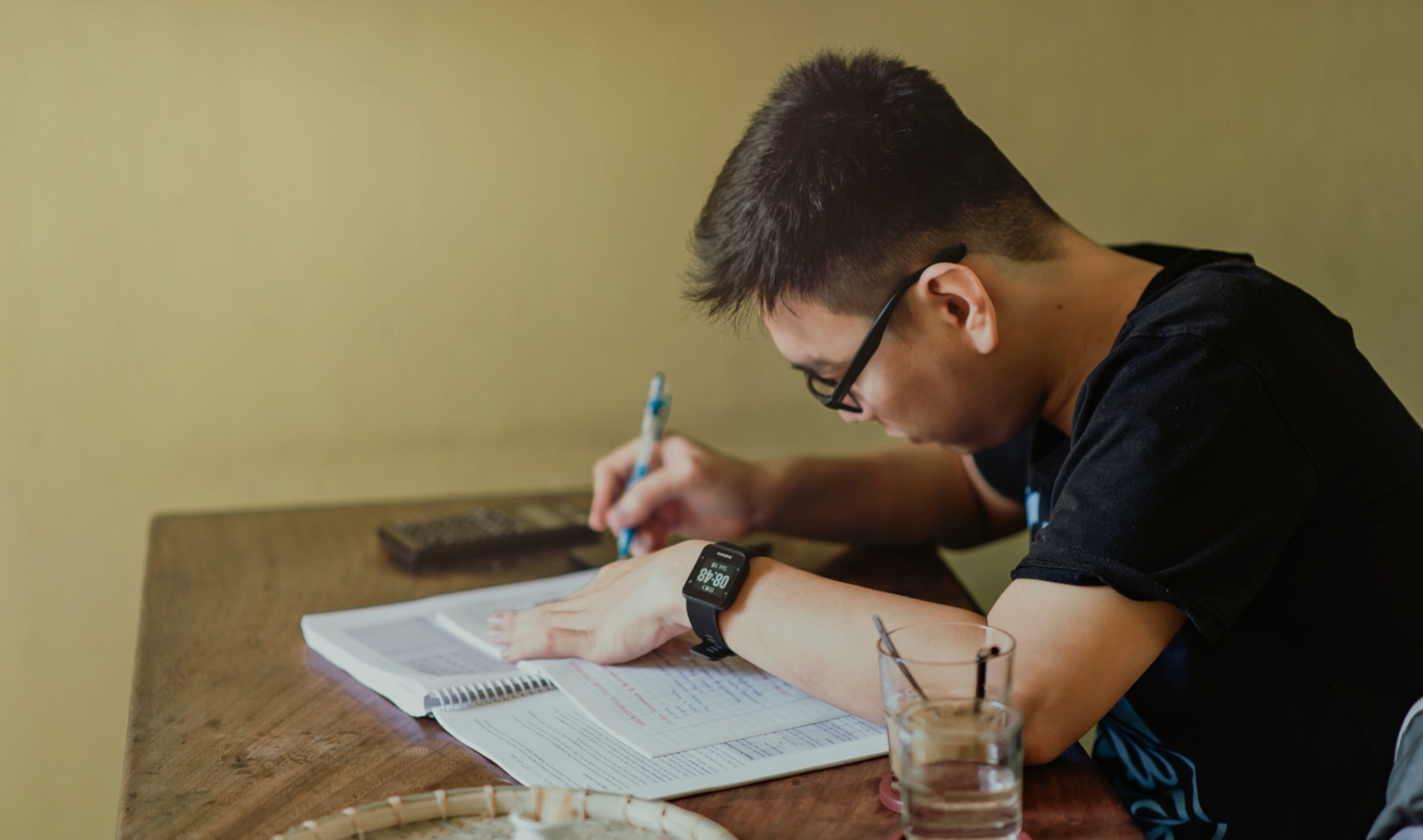 a-level student studying