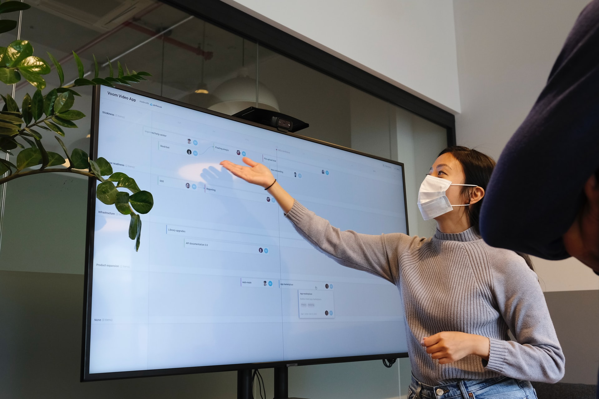 chemistry tutor wearing mask